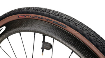 Zipp rolls out its latest Tangente tire, the Tangente Course G40 tubeless gravel tire. Our review tires weigh 497g each and measure 103mm bead-to-bead. photo: Zipp