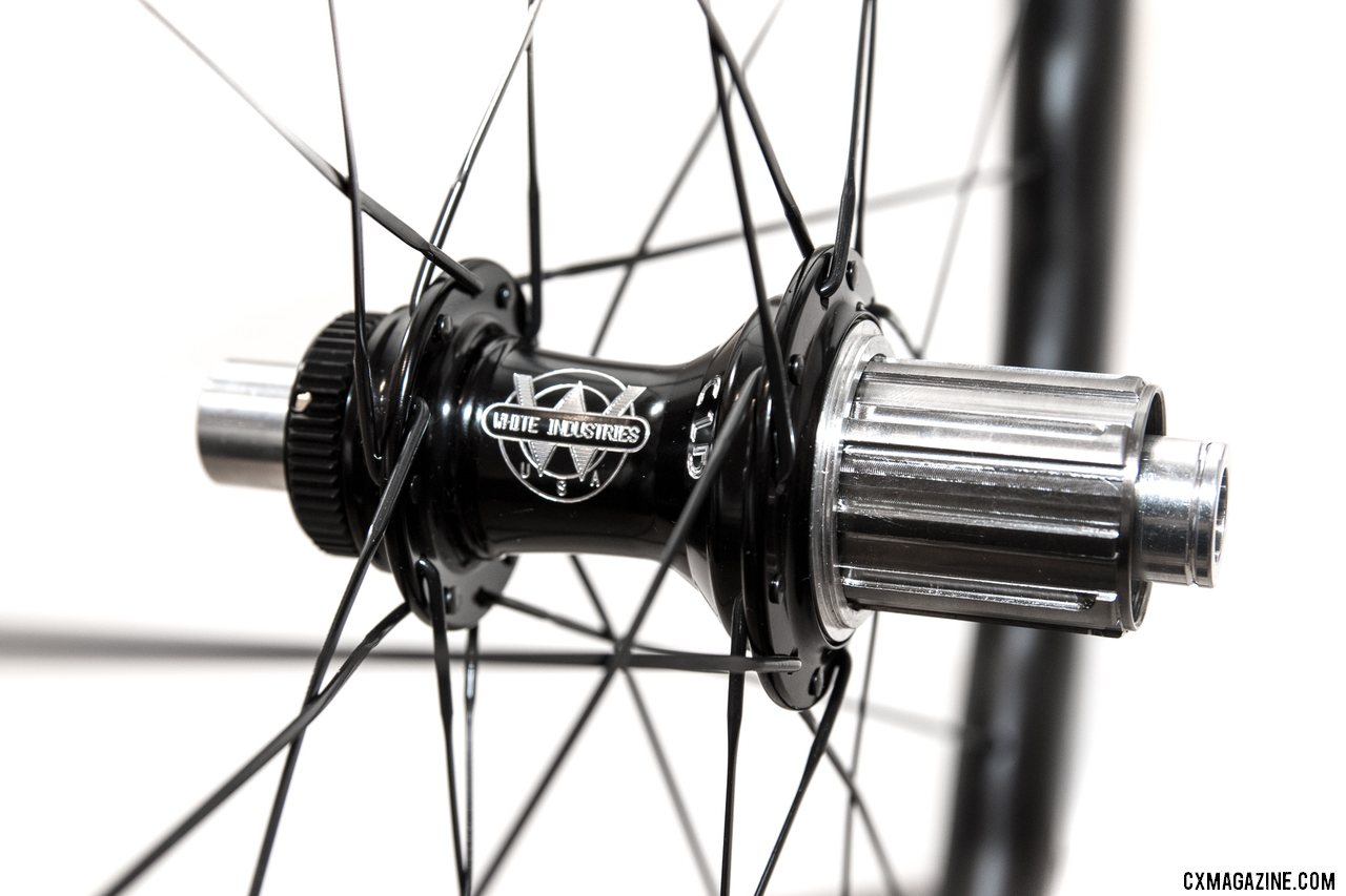 White Ind CLD rear hub has Ti freehub body with 3 pawl/48pt mechanism © C. Lee / Cyclocross Magazine