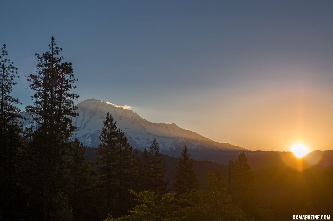 Who wouldn't want to ride with such scenery? Mount Shasta in the late summer. © A. Yee / Cyclocross Magazine