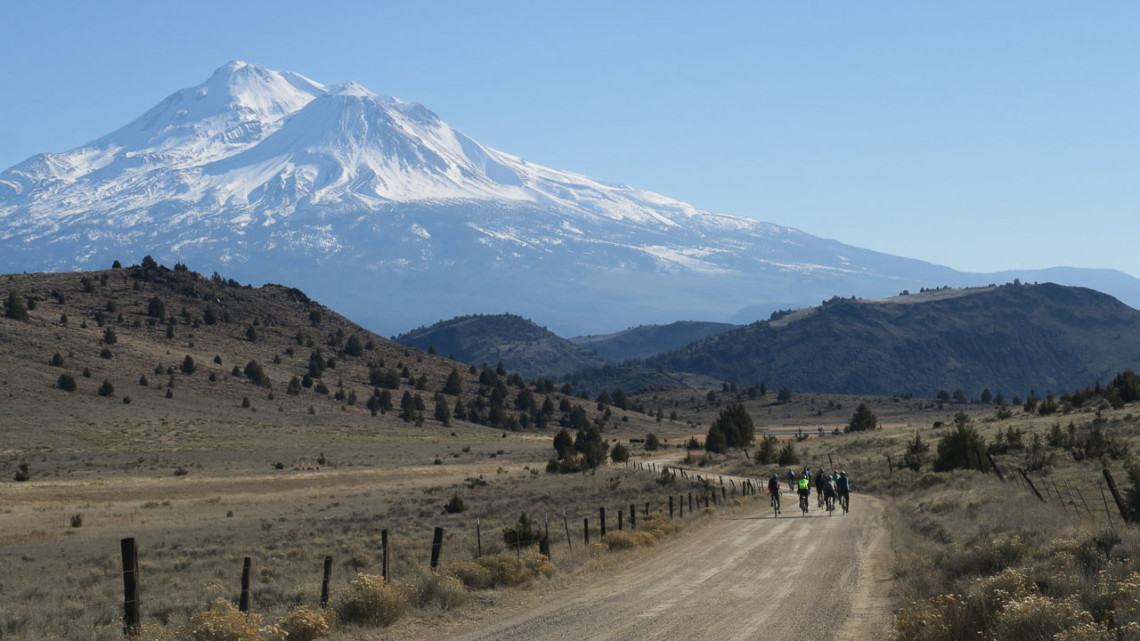 Varied weather, conditions and terrain challenged 2020 Shasta Gravel Hugger racers, but the views were consistently inspiring. © Derek Boland
