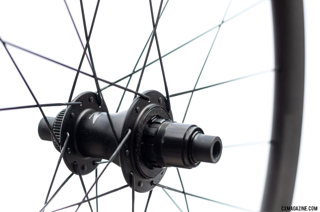 Zipp's new Firecrest 303 tubeless disc brake carbon wheelset comes in a SRAM XD-R AXS-friendly option, of course. © Cyclocross Magazine