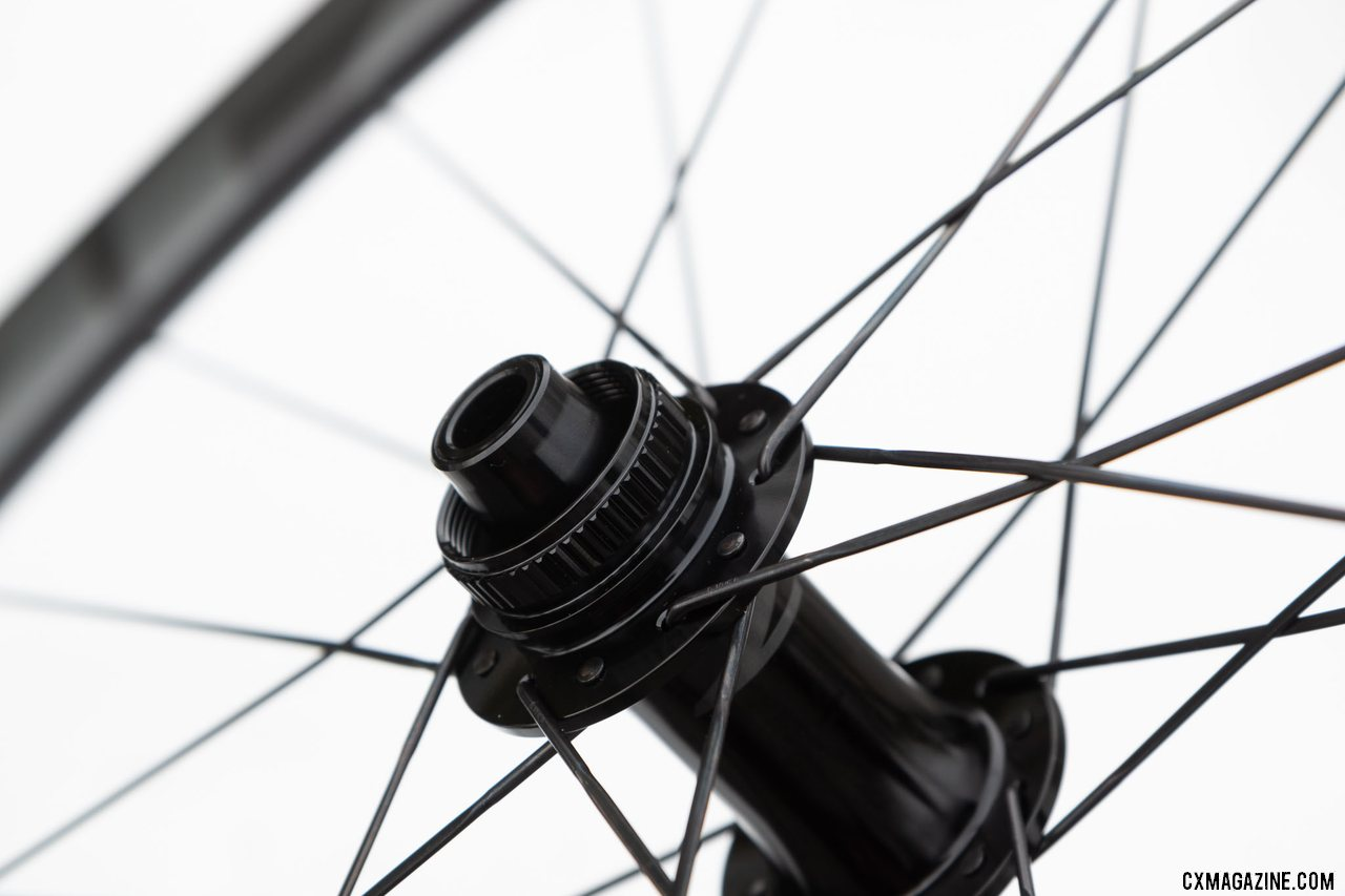 The new Zipp 303 S carbon disc brake tubeless wheel with bladed CX-Sprint spokes. © Cyclocross Magazine