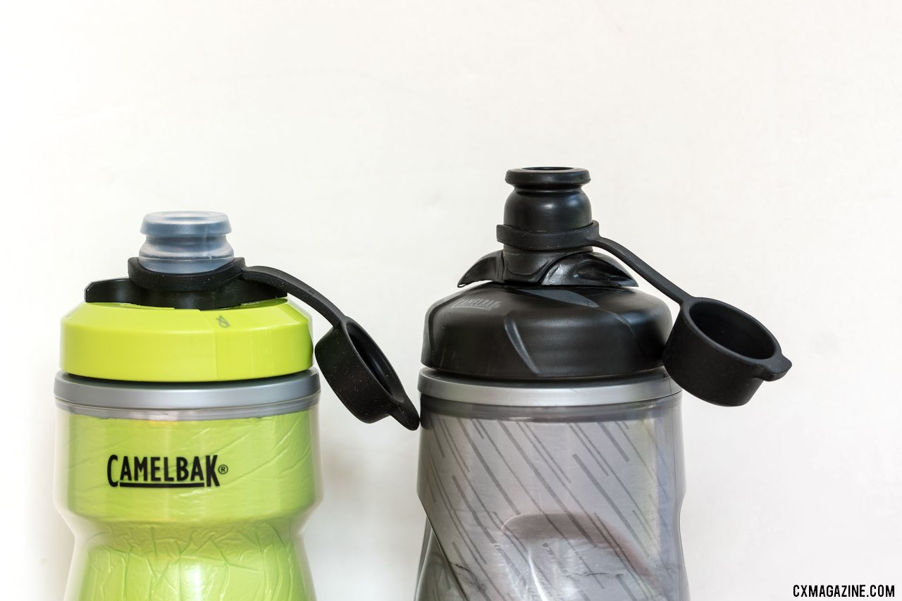 The new Camelbak Podium bottle top is shorter and flatter. © Cyclocross Magazine