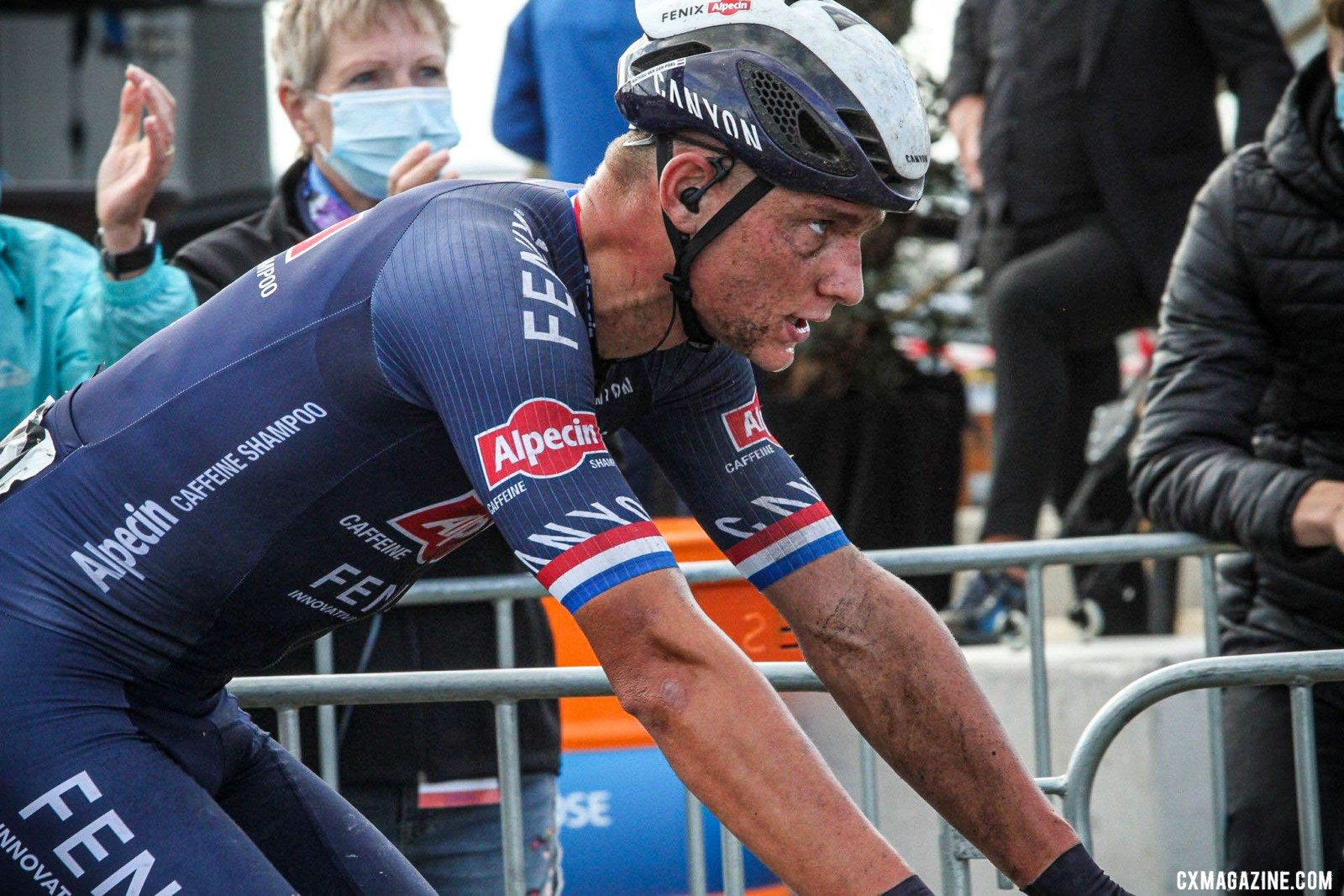 Mathieu van der Poel (Alpecin-Fenix) wins the 2020 Dutch Road National Championships. © B. Hazen / Cyclocross Magazine