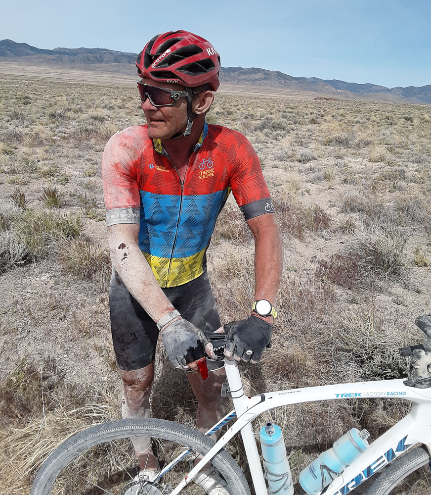 Narrow high pressure tires can backfire. The Salty Lizard 100 and Stupid Pony gravel events are coming to Northern Utah and Nevada October 2,3. photo: courtesy