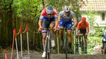 Mathieu van der Poel drops everyone on the cobbles at the Binckbank Tour 2020.