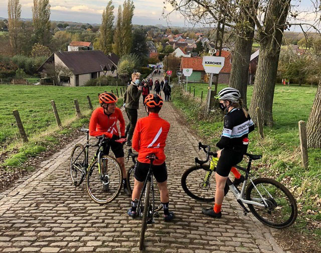 Corey Coogan Cisek after a Koppenbergcross pre-ride. photo: courtesy