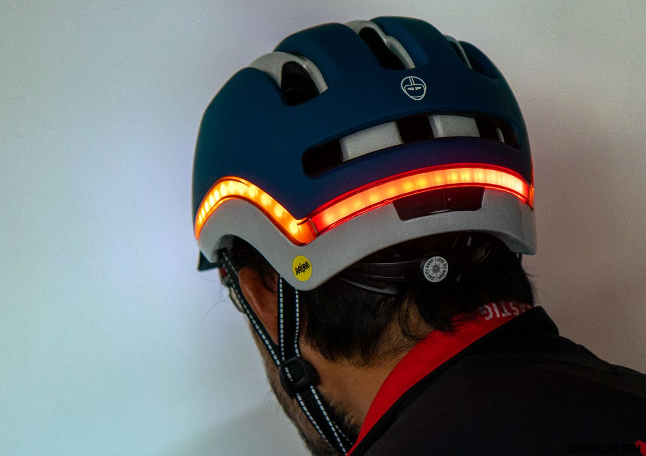 Nutcase's Vio helmet with built-in rear, side and front lighting. © Cyclocross Magazine