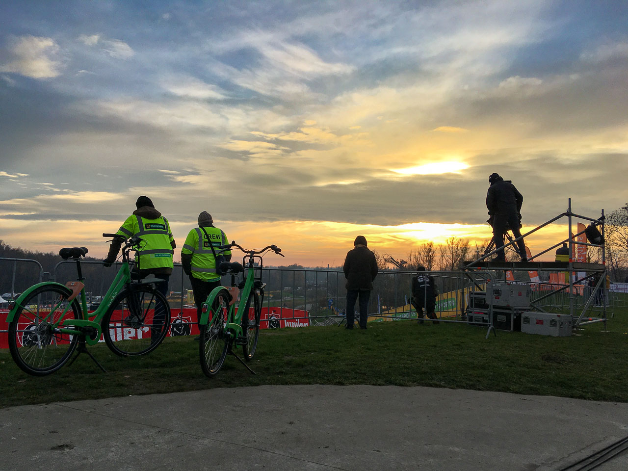 The best view at the 2020 Superprestige Boom venue. photo: courtesy
