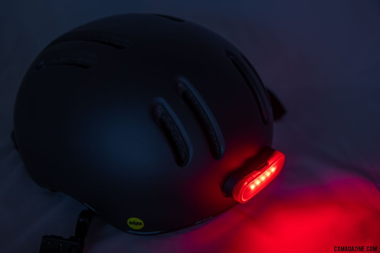 Thousand's Chapter MIPS cycling helmet features a removable rear LED light that attaches with a magnet. © Cyclocross Magazine