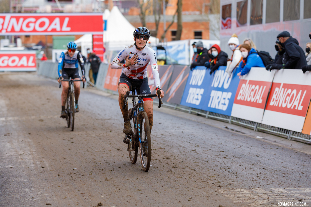 Brand finished 2nd at Overijse. 2021 UCI Overijse Cyclocross World Cup. © Alain Vandepontseele / Cyclocross Magazine