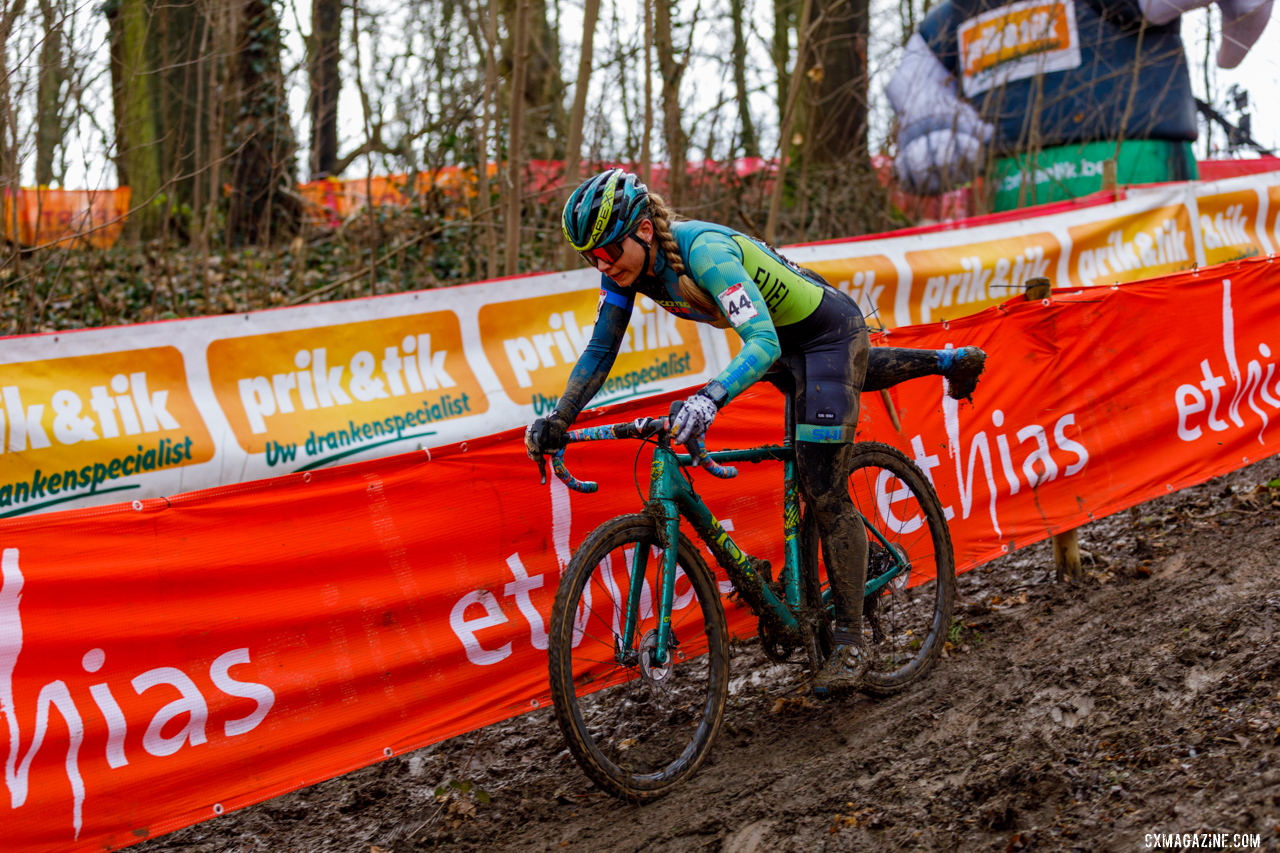 Fahringer went on to place 28th at Overijse. © Alain Vandepontseele / Cyclocross Magazine