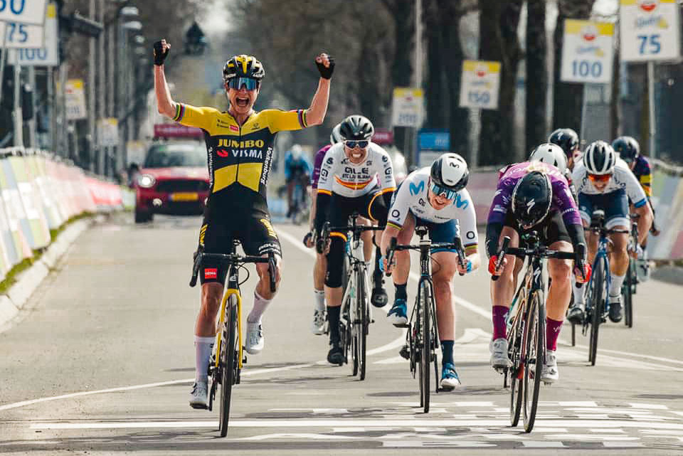 Marianne Vos takes her first Amstel Gold victory.