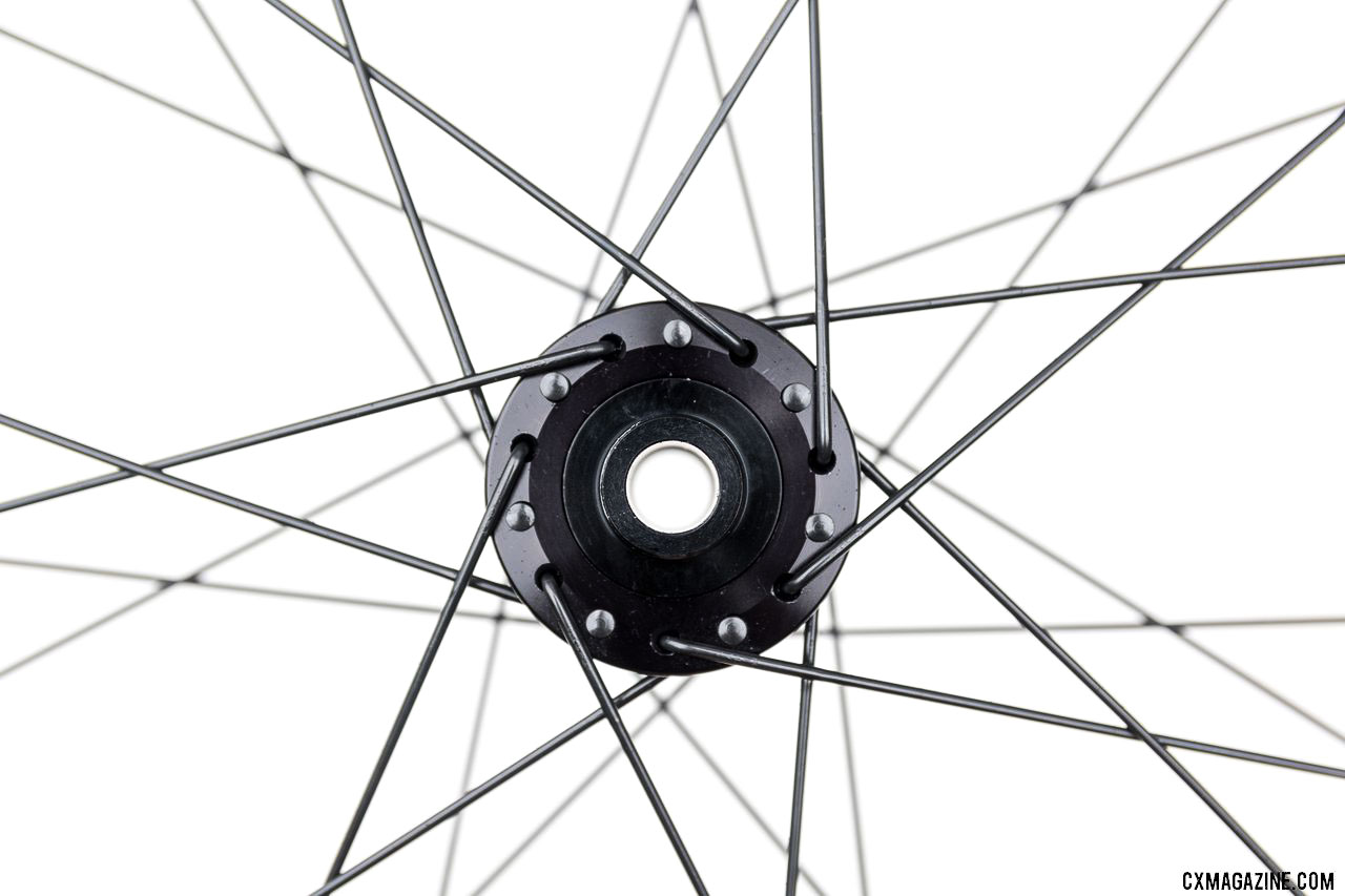 28 db spokes symetrically laced X3 front and rear
