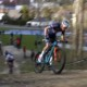 Mathieu van der Poel leads the 2021 UCI XCC Short Track Mountain Bike Race in Albstadt, Germany.