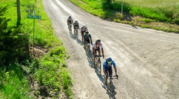 Hot, dry conditions greeted racers for the 2021 Unbound Gravel 200. photo: Life Time