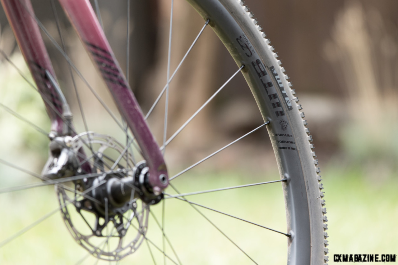 note the reinforced spoke holes on the WTB CZR i23 rim. © C.Lee/Cyclocross Magazine