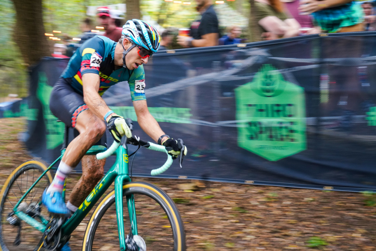 Kerry Werner raced to a top-15. 2021 UCI Cyclocross World Cup Waterloo, Elite Men. © D. Mable / Cyclocross Magazine