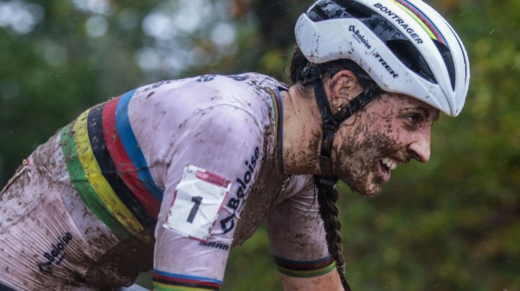 Brand made the fewest mistake on her way to victory. 2021 UCI Cyclocross World Cup Fayetteville, Elite Women. © D. Mable / Cyclocross Magazine