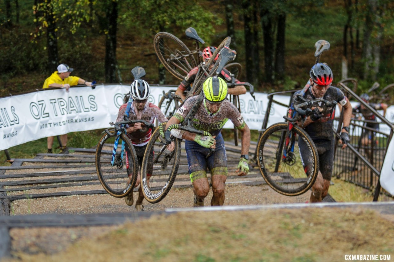 Hermans only briefly had company in Fayetteville. 2021 UCI Cyclocross World Cup Fayetteville, Elite Men. © D. Mable / Cyclocross Magazine