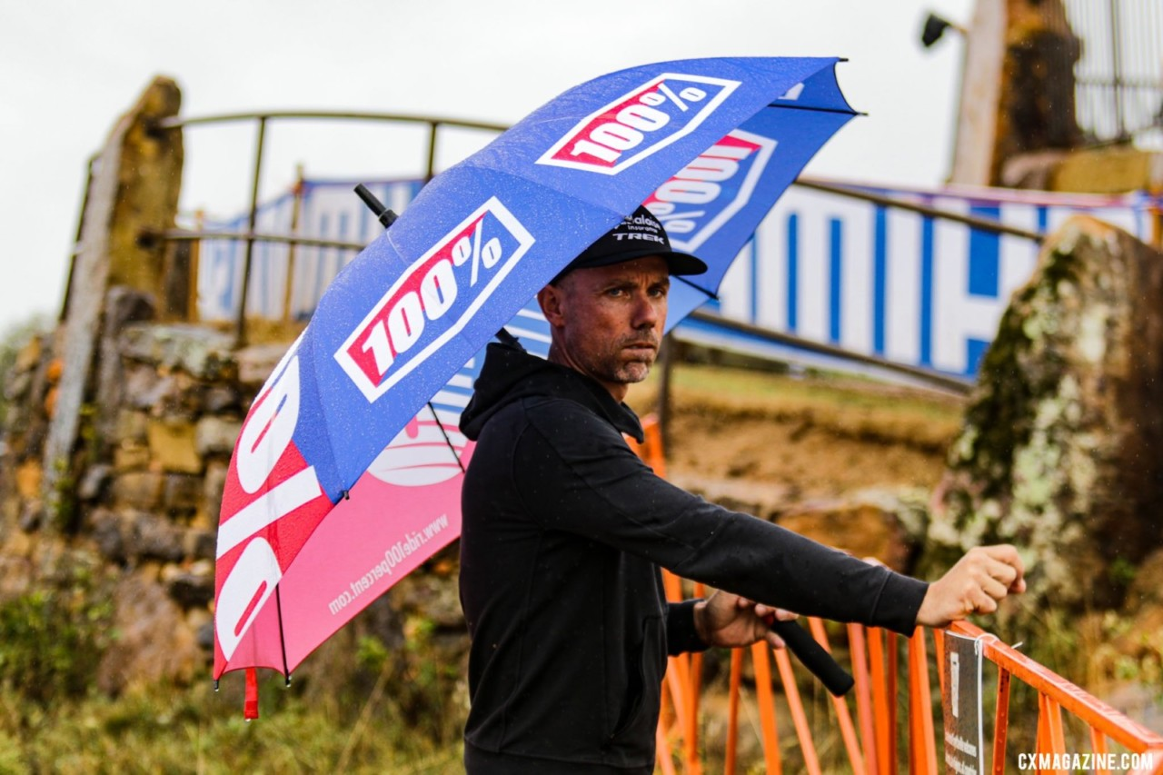 While Nys had plenty to smile about in the women's race, he couldn't have been excited about his Baloise-Trek men's results in the two World Cup stops. 2021 UCI Cyclocross World Cup Fayetteville, Elite Men. © D. Mable / Cyclocross Magazine
