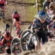 Puck Pieterse led lap one. Elite Women. 2021 Zonhoven UCI Cyclocross World Cup. © Cyclocross Magazine