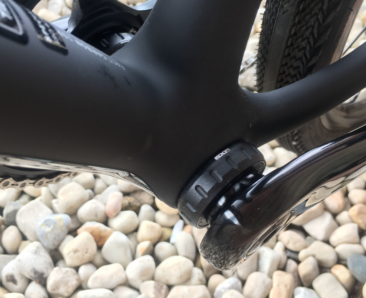 The 2022 Specialized CruX goes back to threaded bottom brackets. © B. Grant / Cyclocross Magazine