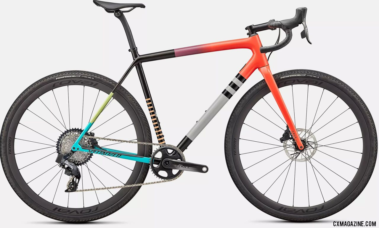 The $8k 2022 Specialized CruX Pro Gravel / Cyclocross Bike with SRAM AXS Force.
