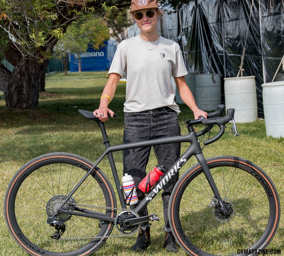Gravel Star Moriah Wilson with her new CruX. © C. Lee / Cyclocross Magazine
